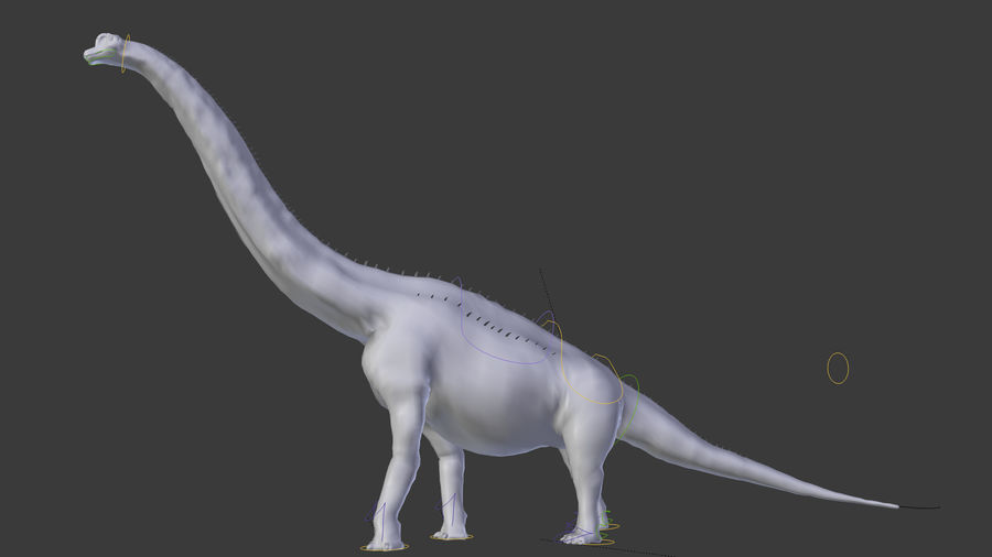 Brachiosaurus royalty-free 3d model - Preview no. 6