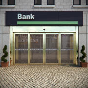 Bank Entrance 3d model