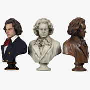 Beethoven-Büste 3d model