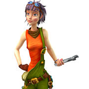 mechanic girl 3d model