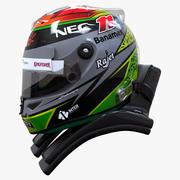 Sergio Perez 2015 style Racing helmet 3d model