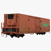 Railroad Refrigerator Car 3D Model 3d model