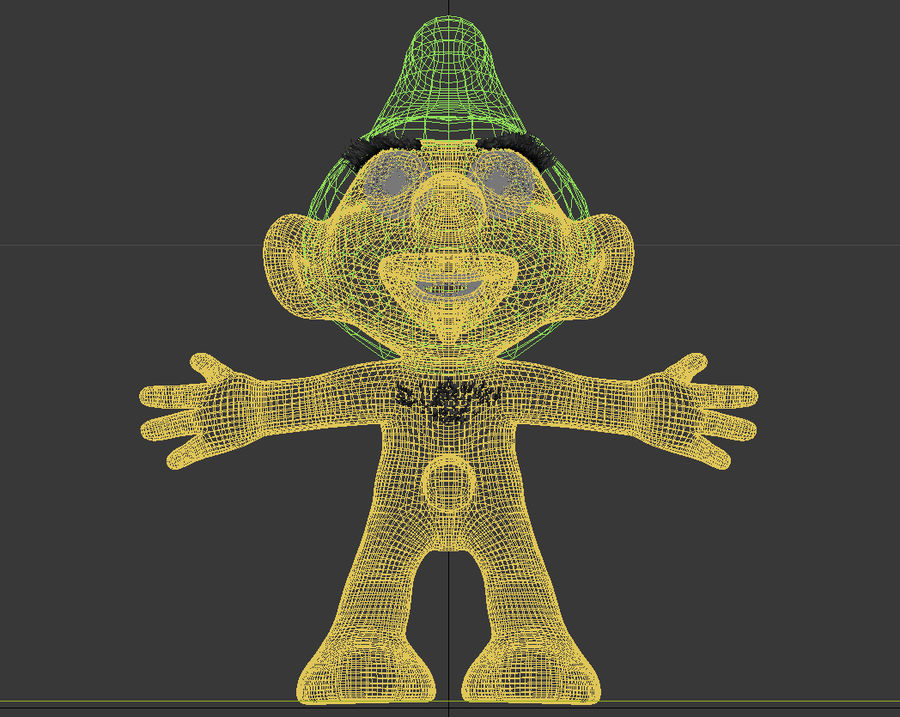 smurf royalty-free 3d model - Preview no. 12