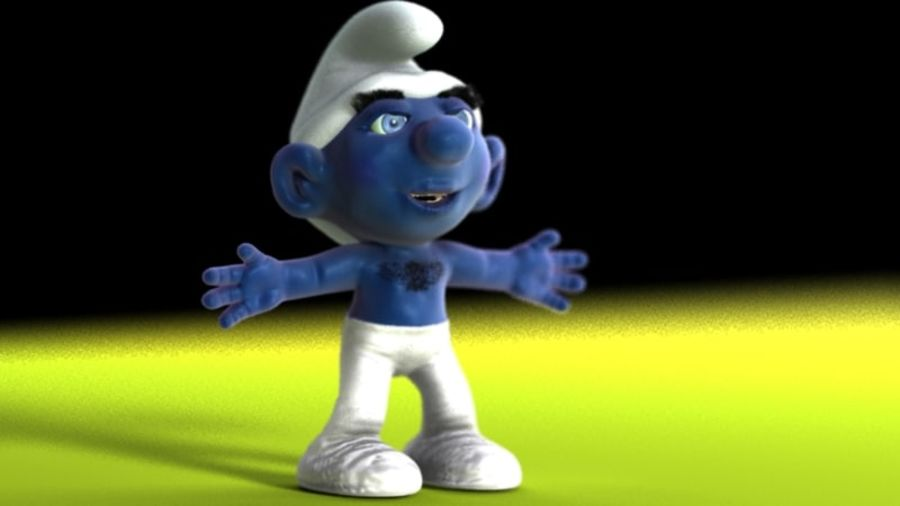 smurf royalty-free 3d model - Preview no. 3
