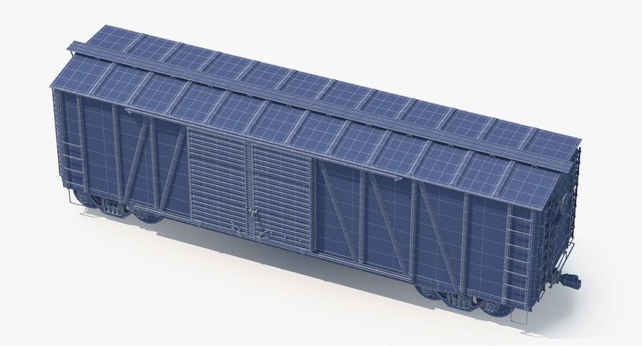 Güterwagen royalty-free 3d model - Preview no. 16