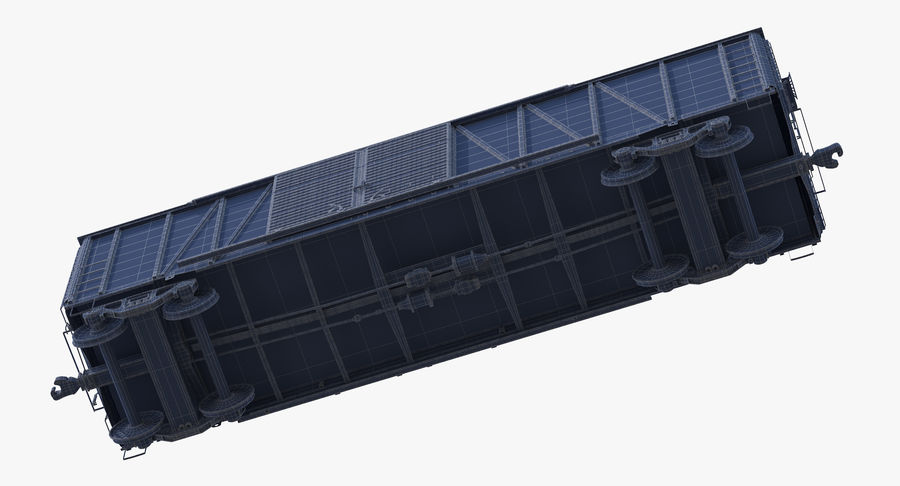 Güterwagen royalty-free 3d model - Preview no. 17
