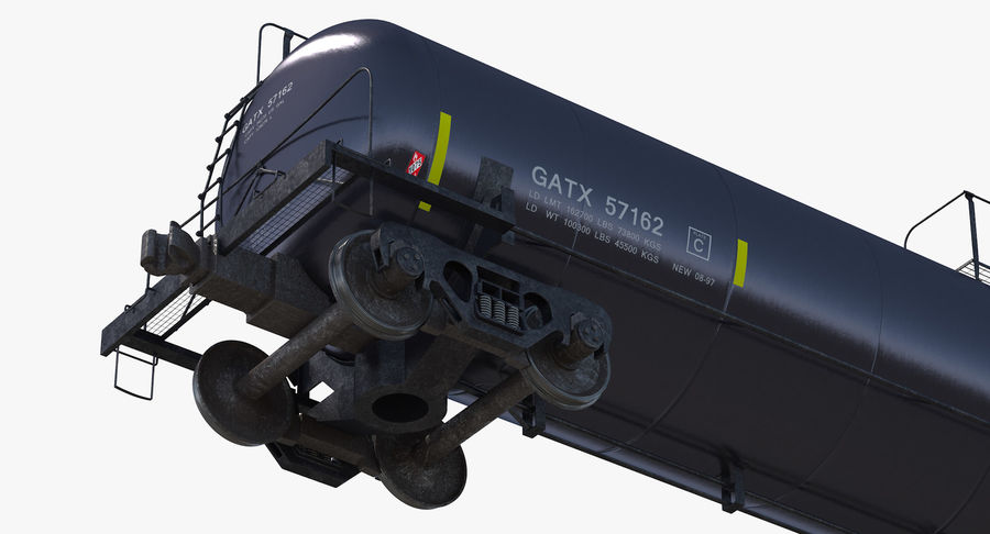 Wagon-citerne royalty-free 3d model - Preview no. 10
