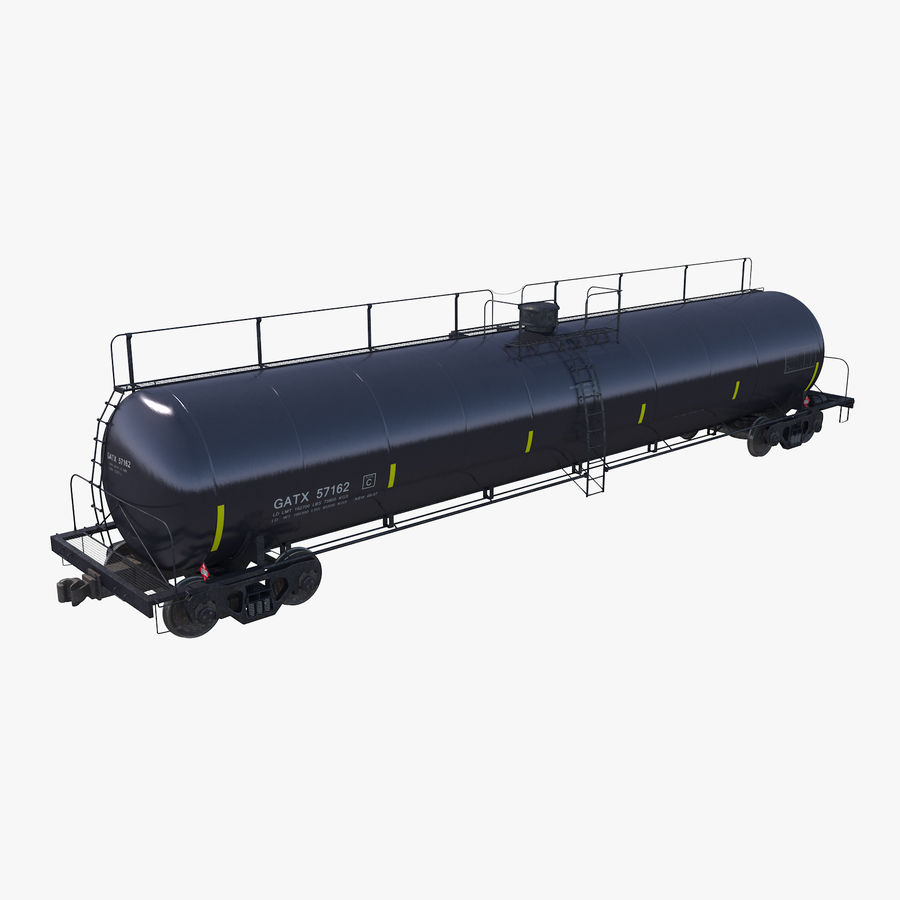 Wagon-citerne royalty-free 3d model - Preview no. 1
