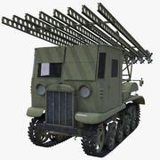 Soviétique BM-13 Katyusha STZ-5-NATY 3d model