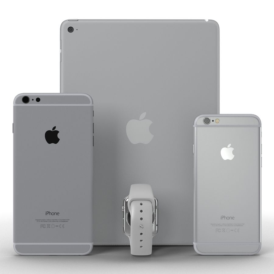 Apple Electronics Collection royalty-free 3d model - Preview no. 5