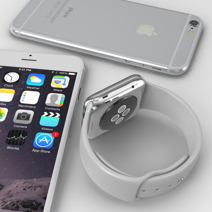 Apple Electronics Collection royalty-free 3d model - Preview no. 11
