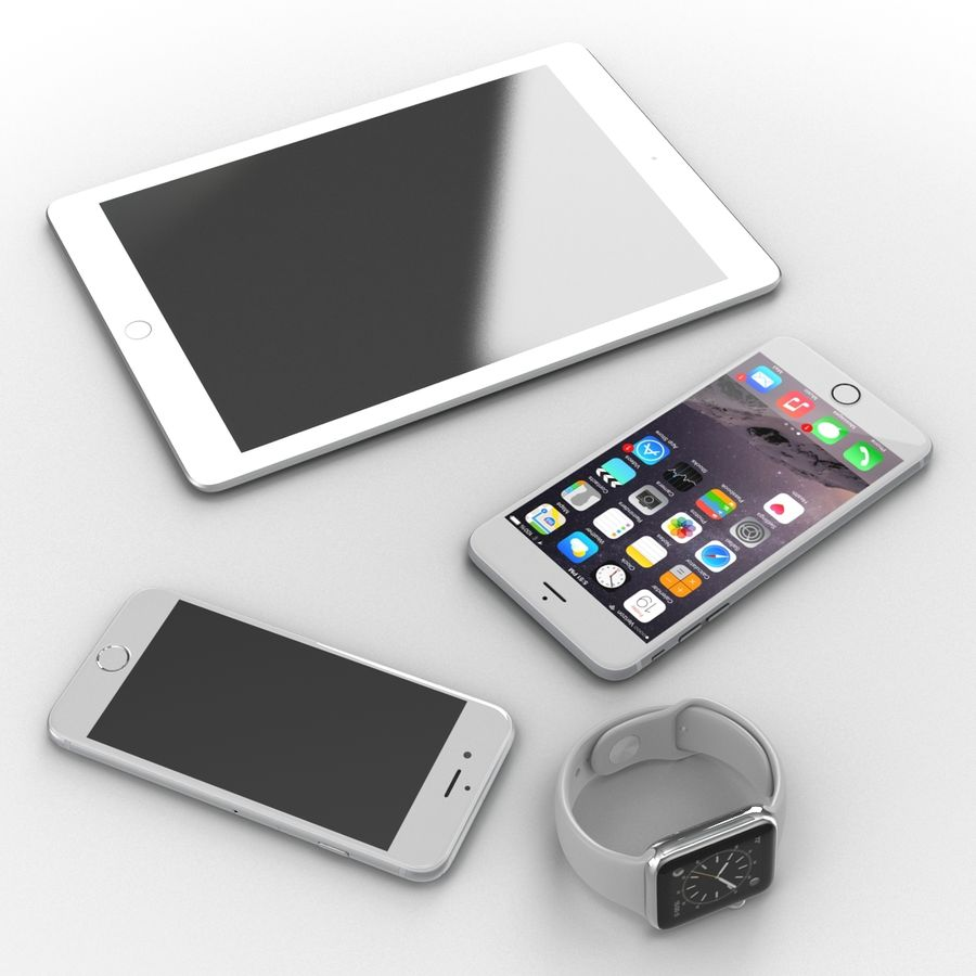 Apple Electronics Collection royalty-free 3d model - Preview no. 8