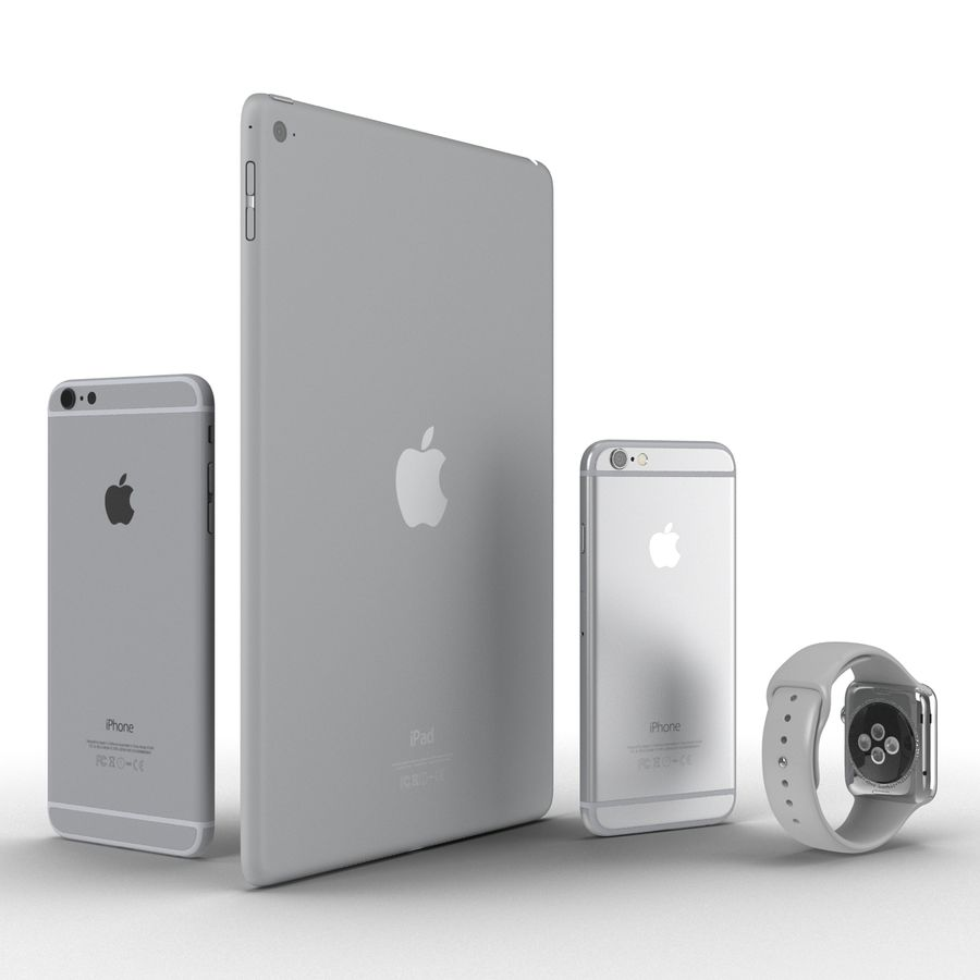 Apple Electronics Collection royalty-free 3d model - Preview no. 4