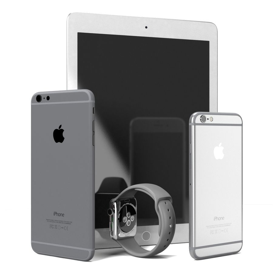 Apple Electronics Collection royalty-free 3d model - Preview no. 3