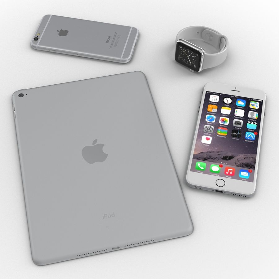 Apple Electronics Collection royalty-free 3d model - Preview no. 9