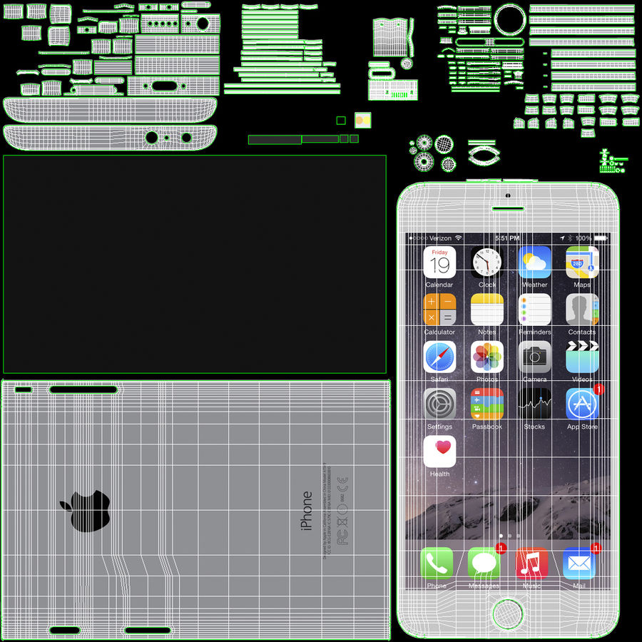 Apple Electronics Collection royalty-free 3d model - Preview no. 57
