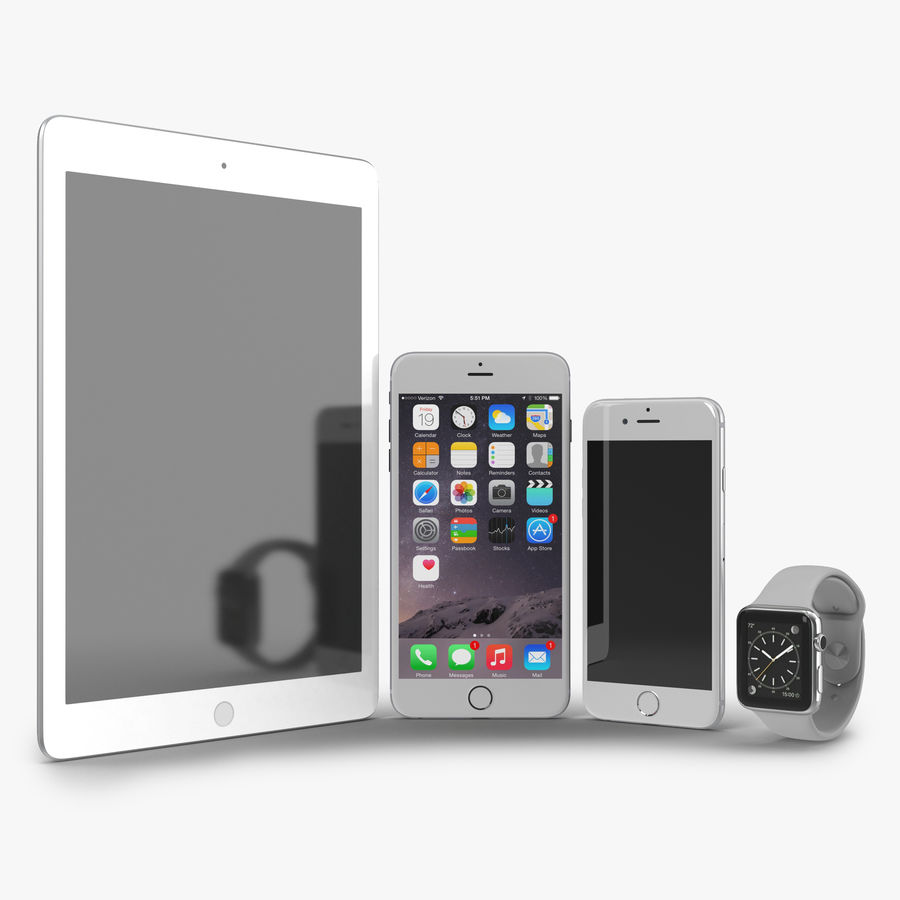 Apple Electronics Collection royalty-free 3d model - Preview no. 1
