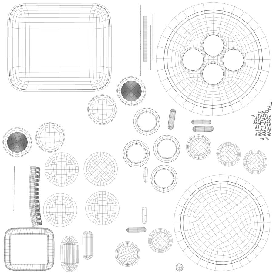Apple Electronics Collection royalty-free 3d model - Preview no. 58
