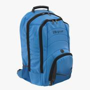 Backpack Blue 3D Model 3d model