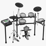 V Stage Electronic Drum Kit Roland TD 12KXS 3D Model 3d model