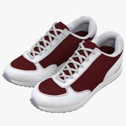 Sneakers 3 Red 3D Model 3d model
