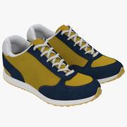 Sneakers 3 Yellow 3D 모델 3d model
