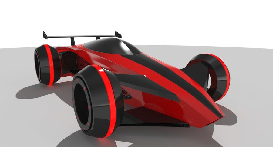 E-Car royalty-free modelo 3d - Preview no. 3
