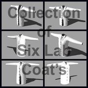 Verzameling van 6 laboratoriumjassen 3d model