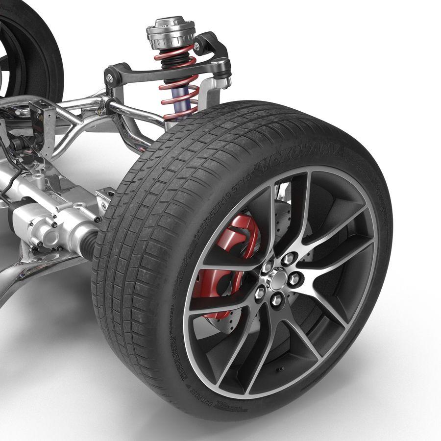Sedan Suspension Front royalty-free 3d model - Preview no. 6