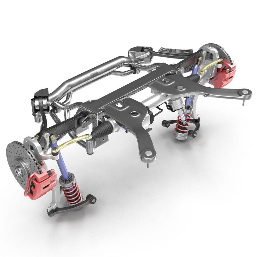 Sedan Suspension Front royalty-free 3d model - Preview no. 18