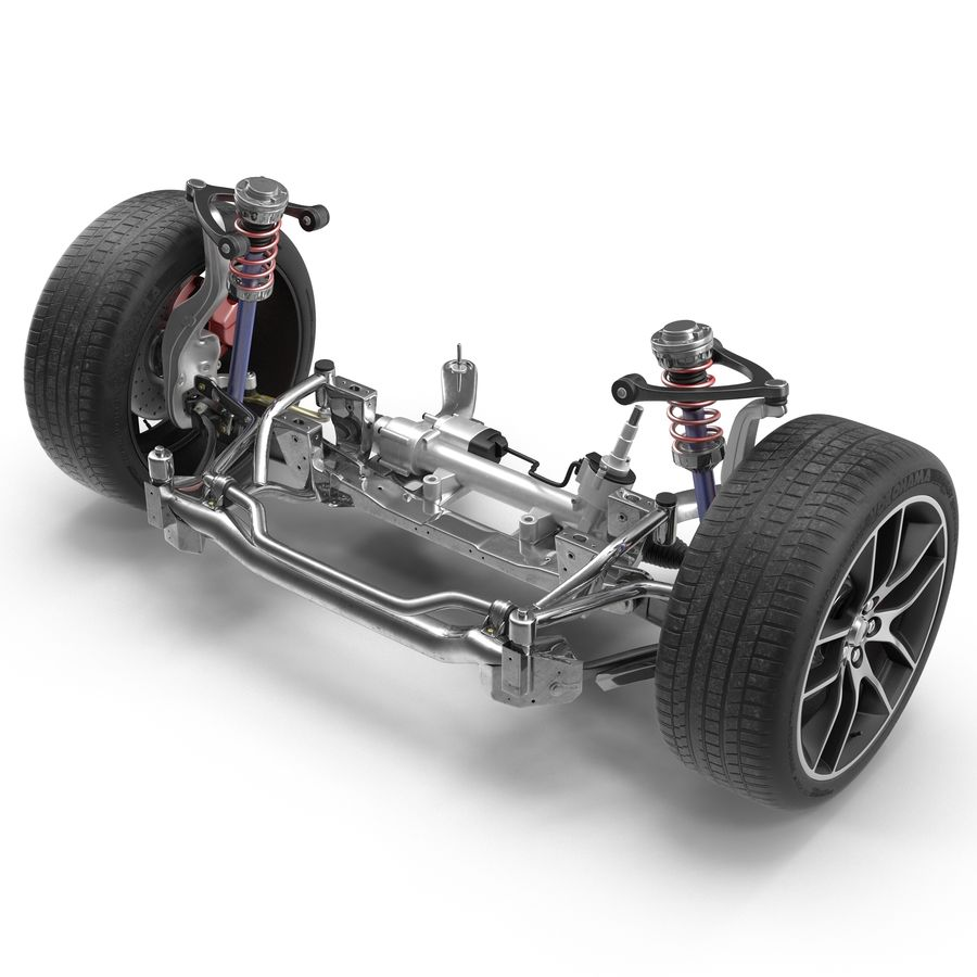 Sedan Suspension Front royalty-free 3d model - Preview no. 2
