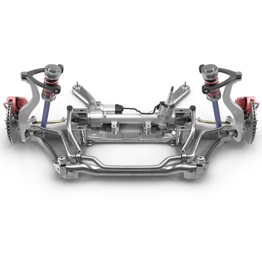 Sedan Suspension Front royalty-free 3d model - Preview no. 14