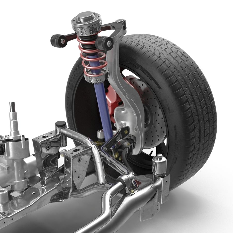 Sedan Suspension Front royalty-free 3d model - Preview no. 7