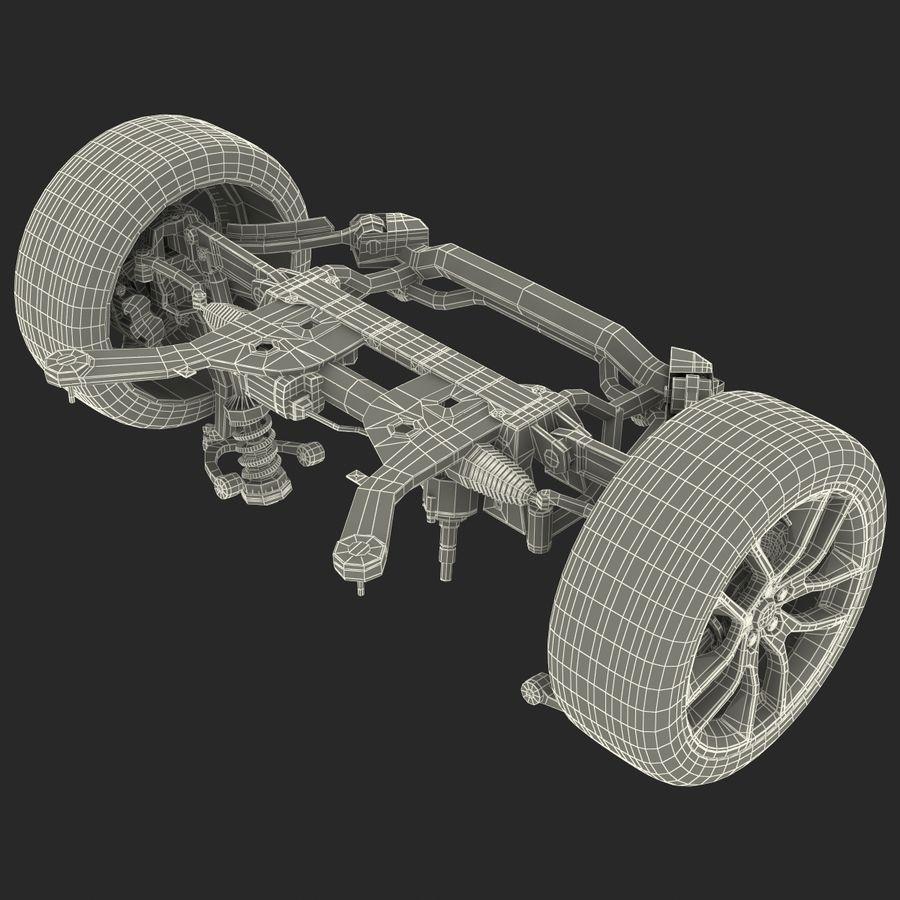 Sedan Suspension Front royalty-free 3d model - Preview no. 30