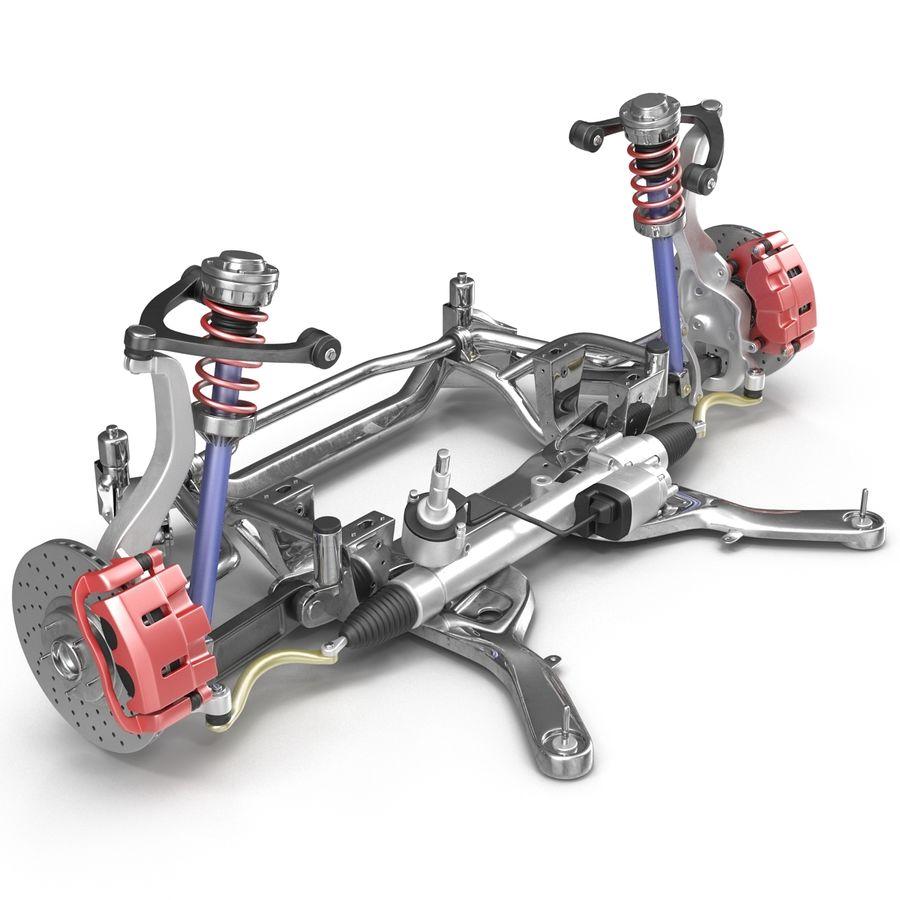 Sedan Suspension Front royalty-free 3d model - Preview no. 16