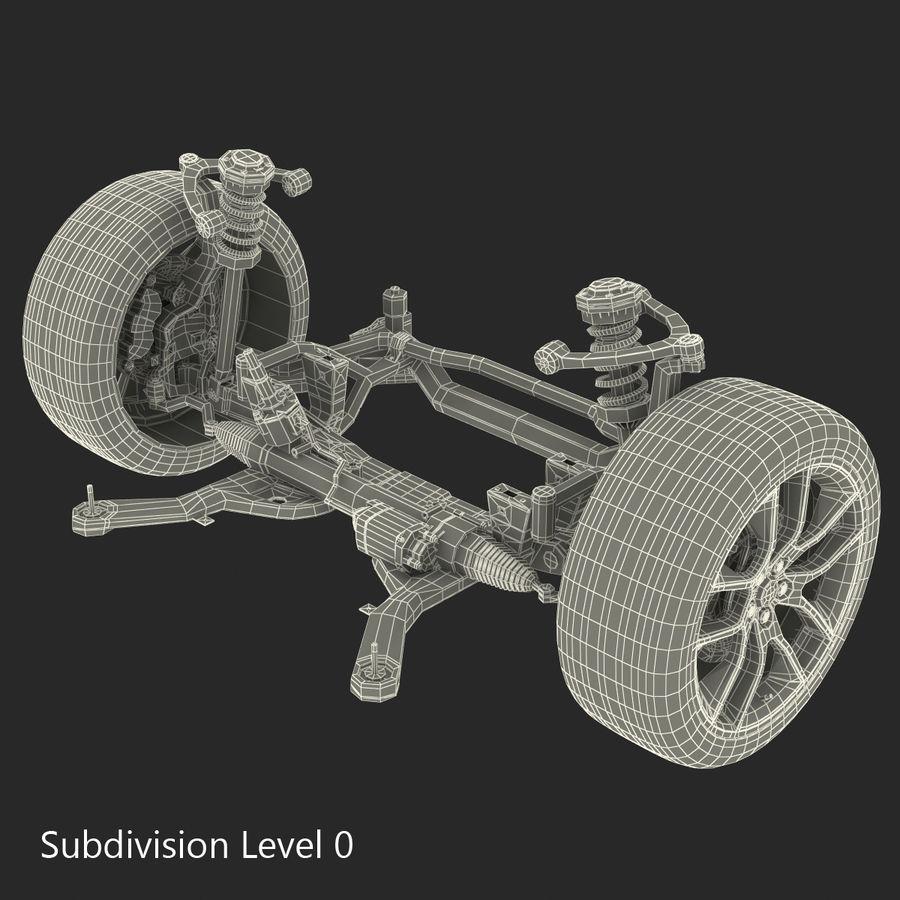 Sedan Suspension Front royalty-free 3d model - Preview no. 21