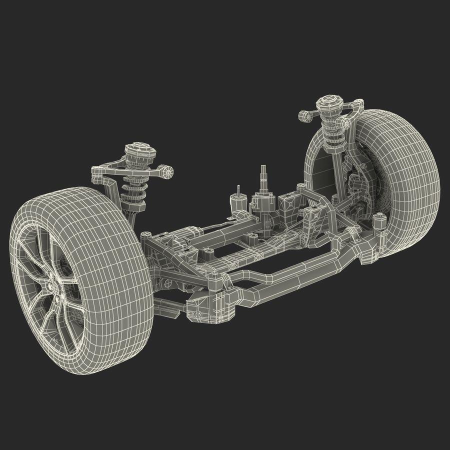 Sedan Suspension Front royalty-free 3d model - Preview no. 27