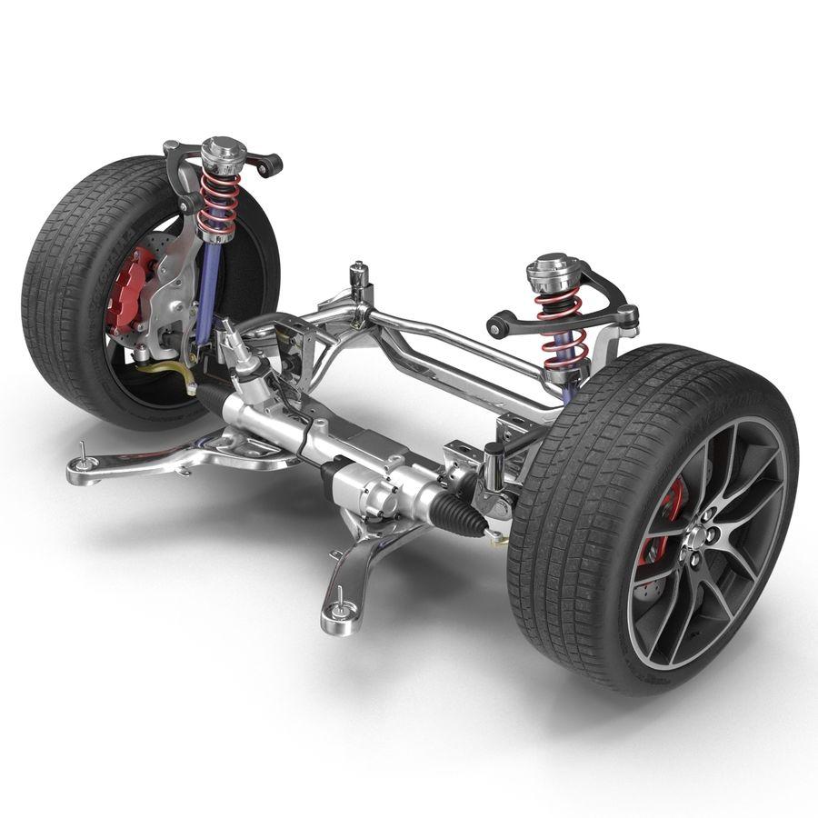 Sedan Suspension Front royalty-free 3d model - Preview no. 4
