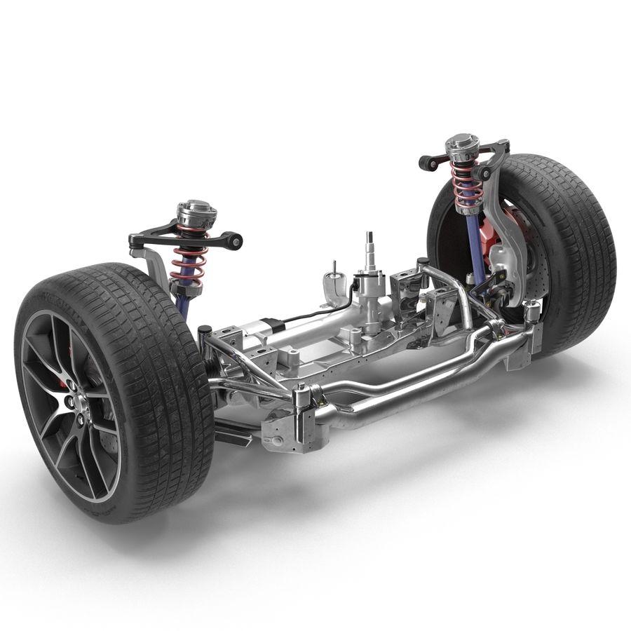 Sedan Suspension Front royalty-free 3d model - Preview no. 3