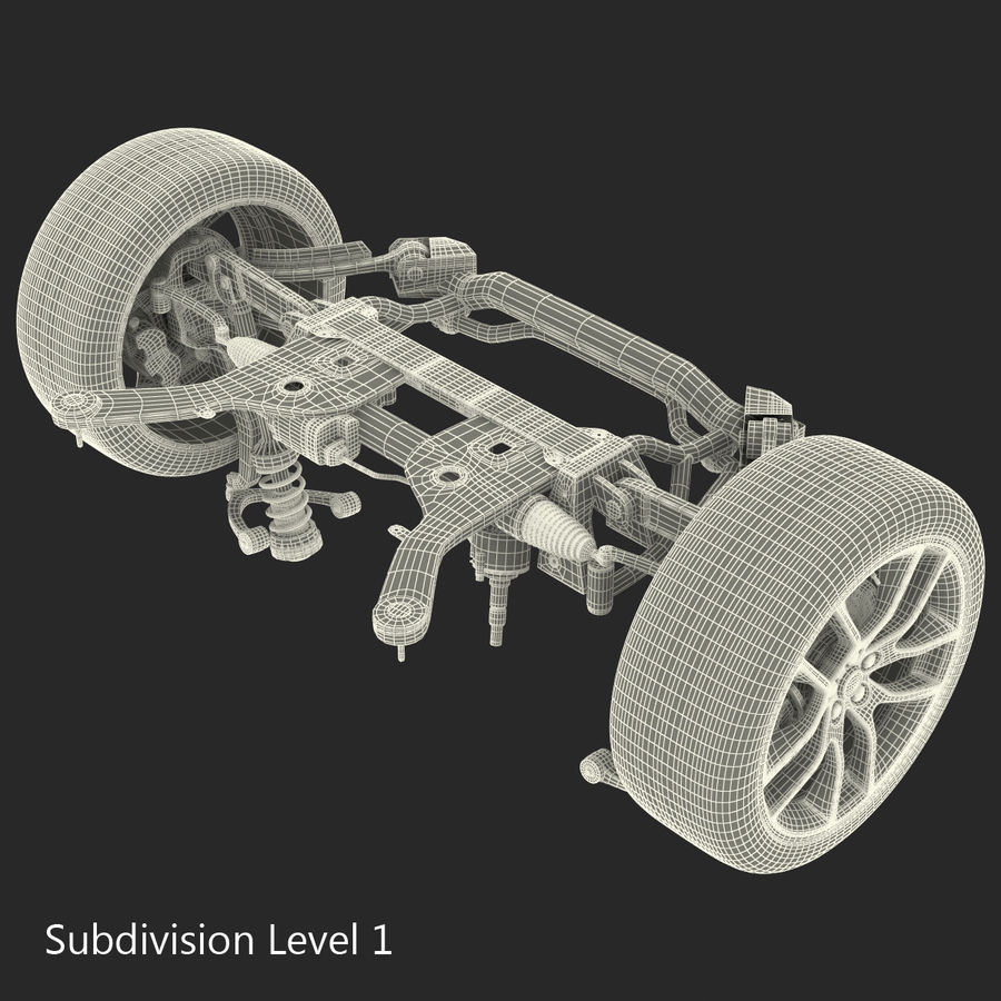 Sedan Suspension Front royalty-free 3d model - Preview no. 22
