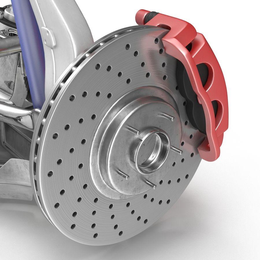 Sedan Suspension Front royalty-free 3d model - Preview no. 20