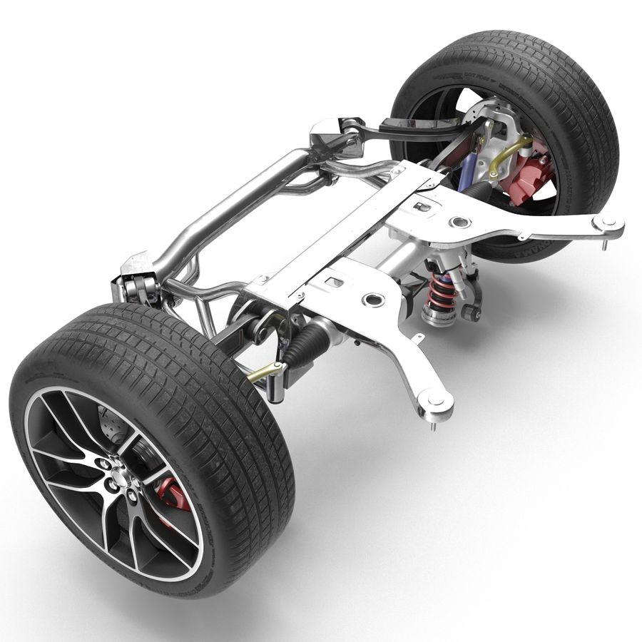 Sedan Suspension Front royalty-free 3d model - Preview no. 8
