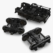 기차 바퀴 컬렉션 3d model