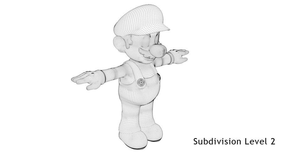 Mario royalty-free 3d model - Preview no. 20
