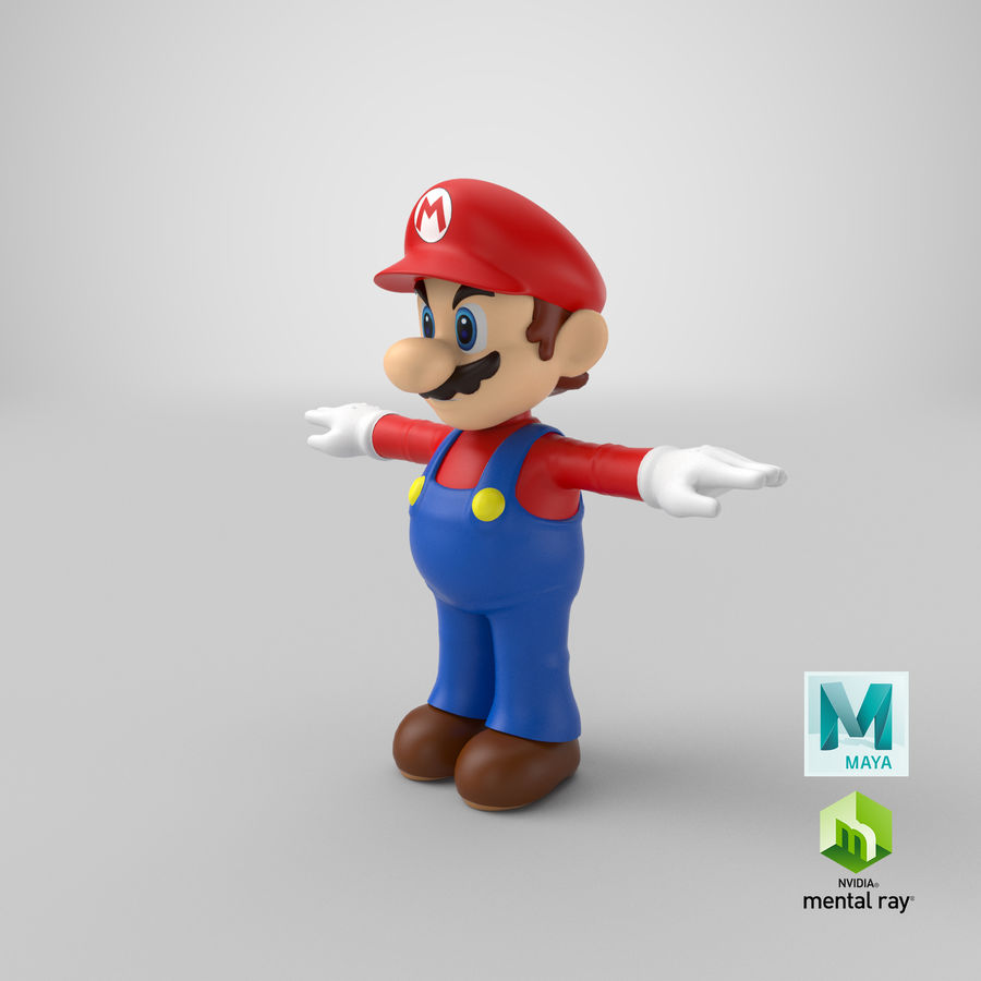 Mario royalty-free 3d model - Preview no. 24