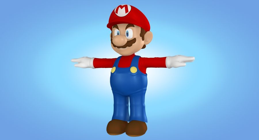 Mario royalty-free 3d model - Preview no. 5