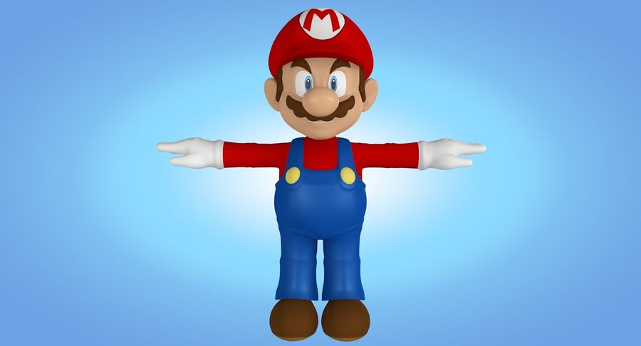 Mario royalty-free 3d model - Preview no. 13