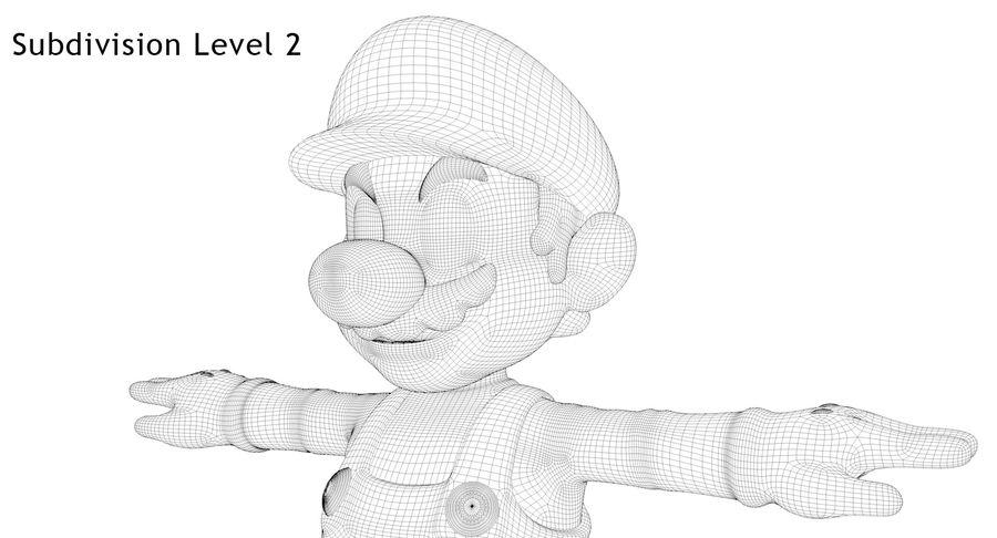 Mario royalty-free 3d model - Preview no. 26