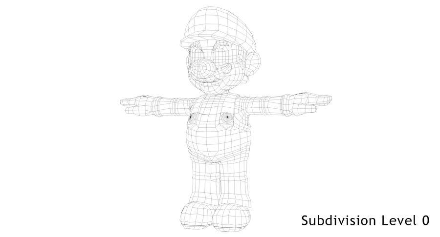 Mario royalty-free 3d model - Preview no. 17