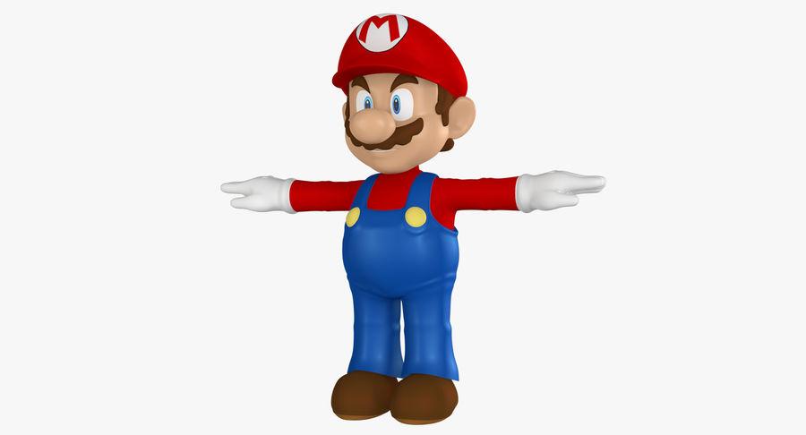 Mario royalty-free 3d model - Preview no. 3